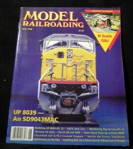 Model Railroading 1998 June UP #8039 GATX tank car Weathering pigs & cans Clinch
