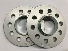 SILVER BIMECC ALLOY WHEEL SPACERS 10MM 66.6 - 66.6 X 2 MERCEDES 5X112 M12B