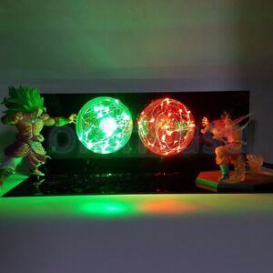 Hot Dragon Ball Son Goku VS Broly Led Light Anime Action Figure Collectible Toys