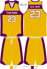 Custom Sublimated Basketball Uniforms Singlets & Shorts Mens Ladies Kids 154