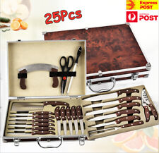 25Pcs Chef Knife Set Bag Catering Kitchen Set Cutlery Carry Portable Box Storage