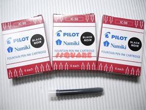 72 x Pilot IC-50 Namiki Fountain Pen Ink Cartridges 78G Prera, Black (12 Boxes)