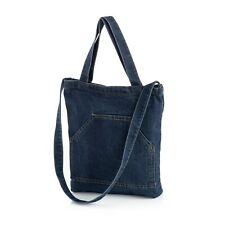 Dark Denim Tote Bag Double Strap Shopper Shoulder Bag Beach Holiday Festival