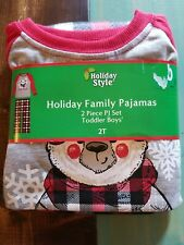 Boys Holiday Style 2 Piece Toddler Boys Pajama Set Size 2T Nwt!