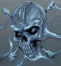 EURO 5 STAGE MULTI LAYER STEP BY STEP AIRBRUSH PISTON SKULL STENCIL TEMPLATE A