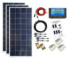 450w Poly Solar Panel Kit 24V battery charging PWM controller cables bracket K4P