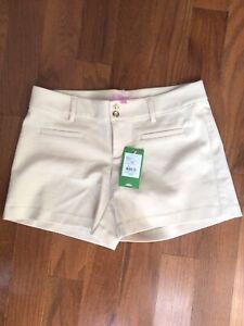 NWT LILLY PULITZER NEW Resort Sandstone Joette Stretch Dinner Shorts Size 4($88)