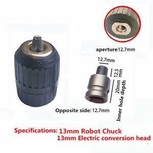 2~13mm 1/2inch Keyless Drill Chuck Screwdriver Impact Driver Adapter Hex Shank