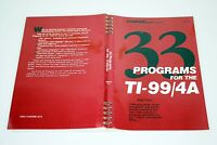 33 Programs For The TI-99/4a by Brian Flynn 1984 Illustrated Vintage Computing