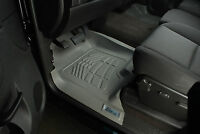 Fits Toyota Tacoma Double Cab 2005 - 2011 Gray Floor Mats Liner - 2 Piece