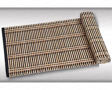 1 Tischläufer, Bambus dunkel, 118x33cm, Tischdecke, Tischunterlage, Kesper