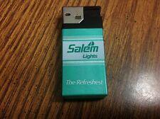 Vintage Lighter Advertising Cigarettes Salem Lights Refreshest Used No Fuel