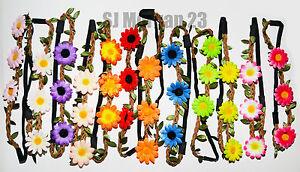 BOHO DAISY SUNFLOWER FLORAL FLOWER FESTIVAL HAIR WEDDING GARLAND HEADBAND