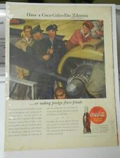 1942 WW 2 II COCA-COLA War SOLDIERS Rosie the Riveter COLOR Full Page 10x15