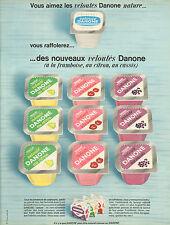 Publicité Advertising 1967  Veloutés Danone framboise citron cassis yaourt