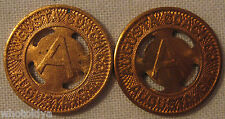 Augusta Georgia Coach Transit Tokens With Holes For Jewelry whotoldya Lot 32913