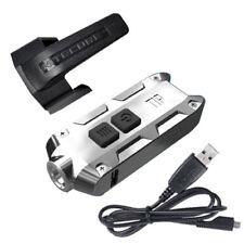 Nitecore Tip SS Keychain Flashlight -360 Lumens (Glacier) w/USB Cord & Clip