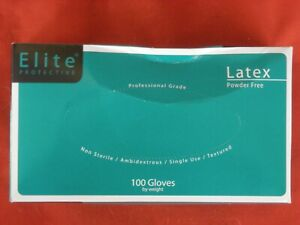 ELITE LATEX POWDER FREE  XL  200 GLOVES TEXTURED  PRICE IS FOR 2 BOXES   (T6)