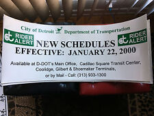 DDOT Detroit Dept. of Transportation New Schedules bus advertisement 2000