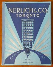 Nerlich & Co. Toronto, Catalog 1940 Great TIN LITHO TOYS Wyandotte DISNEY Sambo