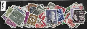 100 different Stamps / Adolph Hitler WWII / Third Reich Germany & Occupied areas