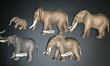 Schleich African Elephant Lot of 5 Figures/Figurines (Some with Tags)