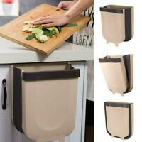 Kitchen Cabinet Door Hanging Trash Garbage Bin Can Foldable Rubbish Container