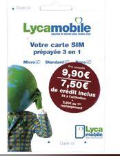 Puce SIM Lycamobile France 4G (7,5€ Credit)