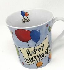 Large Coffee Mug, Happy Birthday, Pier 1 Imports, Porcelain, 4 inches, balloons