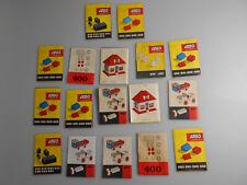 Lego® System Zubehör 17x alte Beipackzettel Broschüren