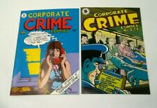 CORPORATE CRIME COMICS 1 & 2 FIRST PRINT 1977 LOT NM