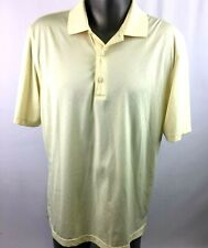 Greg Norman Play Dry Golf Polo Shirt Mens Sz Large Canary Yellow