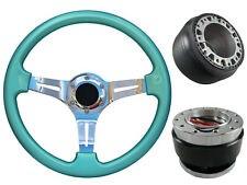 Mint Green Quick Release TS Steering Wheel + Boss Kit for RENAULT TRAFIC 061