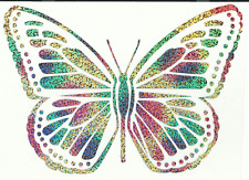 Multi Color Butterfly Design Iron on Heat Transfer Vinyl ready to be on T-Shirt