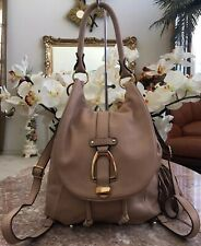 G.I.L.I. Blush Pebble Leather Convertible Backpack Purse EUC, MSRP $$260