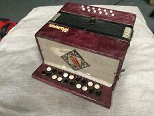 Vintage Child's Harmonica Button Accordion Russian Bayan Homka Garmoshka