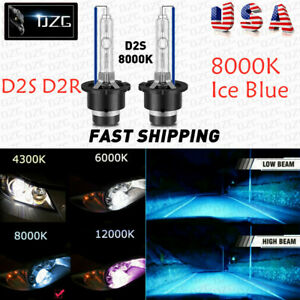 2X D2S 8000K D2R D2C HID Xenon Bulbs Factory Replacement Headlight Kit Ice Blue