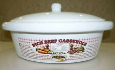 RICH BEEF CASSEROLE Vintage Teracotta / Ceramic Pot 1980's Classic Shell Promo