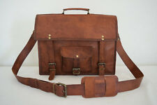 "Leather Briefcase 13"" MacBook Pro/Air Satchel Crossbody Messenger Shoulder Bag"
