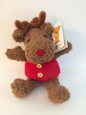 Vintage Mary Meyer Holly Berry Stuffed Moose Animal Toy 1995