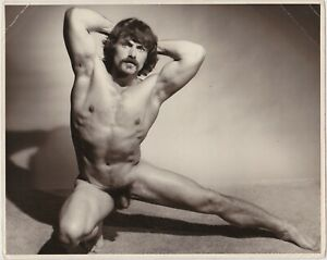 Western Photo Guild, Muscular Male Nude Oscar Navarre Vintage Physique 8x10 Gay