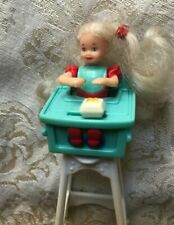 Barbie Kelly Doll In High Chair McDonalds Happy Meal Toy Vintage 90's By Mattel