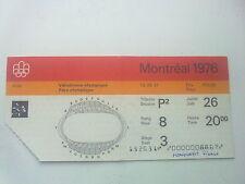 Billet Jeux Olympiques Montréal 26.07.1976 - judo (20:00)