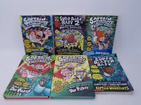 Lot Of 6 Captain Underpants Books 2 Hardcover and 4 Paperbacks Dav Pilkey