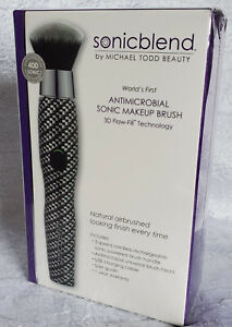 Michael Todd Antimicrobial Sonic Blend Powder Liquid Makeup Application Brush