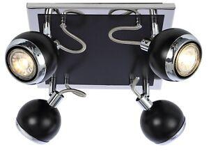 Modern Adjustable 4 Way Retro Ball Ceiling Spotlight Light Fitting + LED Bulb