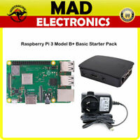 Raspberry Pi 3 Model B+ and Official Case + Official 5.1v 2.5a Power Supply