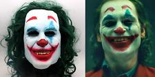 Joker Mask 2019 Movie Halloween Clown Costume Cosplay Scary Joker Prank