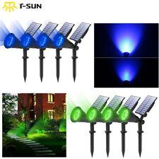 1/2/4 LED Garden Solar Spotlights Outdoor Yard Path Lamp Ground Spike Lights