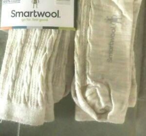 Lot of 2 Pairs: Smartwool Cable II Merino Wool Crew Socks Moonbeam Heather Large
